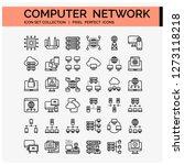 computer network icons set. ui...