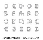 simple set of smartphone line... | Shutterstock .eps vector #1273120645