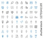 flavor icons set. collection of ... | Shutterstock .eps vector #1273141135