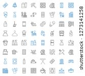 household icons set. collection ... | Shutterstock .eps vector #1273141258