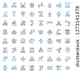machinery icons set. collection ... | Shutterstock .eps vector #1273141378
