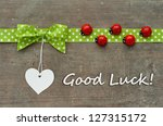 Card With Dotted Green Loop ...