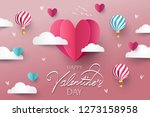 happy valentines day festive... | Shutterstock .eps vector #1273158958