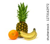 pineapple  orange and bananas... | Shutterstock .eps vector #1273162972