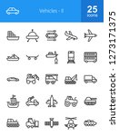vehicles line icons | Shutterstock .eps vector #1273171375