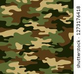camouflage seamless pattern... | Shutterstock .eps vector #1273176418