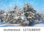 snowflakes falling from the sky.... | Shutterstock . vector #1273188505