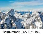 spectacular winter mountain... | Shutterstock . vector #1273193158