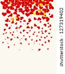 love background with hearts... | Shutterstock .eps vector #127319402