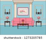 room interior. living room in... | Shutterstock . vector #1273205785