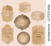 aged paper labels vector... | Shutterstock .eps vector #127321406