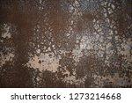 old metal wall of iron sheet... | Shutterstock . vector #1273214668