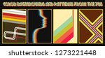 set of vector backgrounds and... | Shutterstock .eps vector #1273221448