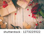 background love and romantic.... | Shutterstock . vector #1273225522