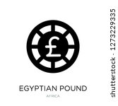 egyptian pound icon vector on... | Shutterstock .eps vector #1273229335