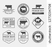 set of premium beef labels ... | Shutterstock .eps vector #1273234708
