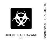 biological hazard icon vector... | Shutterstock .eps vector #1273238848