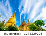sun shine day with temple of... | Shutterstock . vector #1273239205