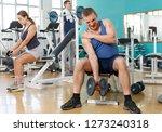 man injured during exercising... | Shutterstock . vector #1273240318