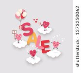 valentines day sale  creative... | Shutterstock .eps vector #1273250062