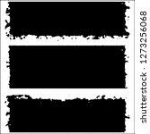 set of grunge textures. black... | Shutterstock .eps vector #1273256068