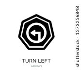 turn left icon vector on white...   Shutterstock .eps vector #1273256848