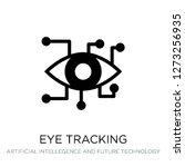 eye tracking icon vector on... | Shutterstock .eps vector #1273256935