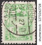 latvia circa 1927 a stamp... | Shutterstock . vector #1273262728