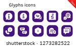 glyphs icon set. 10 filled...   Shutterstock .eps vector #1273282522
