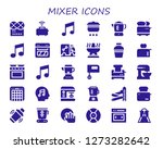 mixer icon set. 30 filled...   Shutterstock .eps vector #1273282642