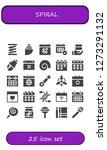 spiral icon set. 25 filled...   Shutterstock .eps vector #1273291132