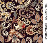 seamless ornate pattern with... | Shutterstock .eps vector #1273292788