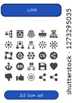 link icon set. 25 filled link... | Shutterstock .eps vector #1273295035
