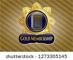 gold shiny badge with note... | Shutterstock .eps vector #1273305145