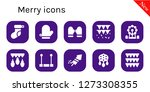 merry icon set. 10 filled... | Shutterstock .eps vector #1273308355