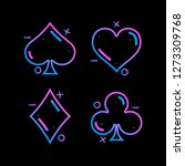 colored symbols deck of cards... | Shutterstock .eps vector #1273309768