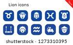 lion icon set. 10 filled lion... | Shutterstock .eps vector #1273310395