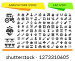 agriculture icon set. 120... | Shutterstock .eps vector #1273310605