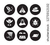 9 vector icon set   tobacco ...   Shutterstock .eps vector #1273312132