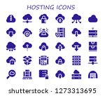 hosting icon set. 30 filled... | Shutterstock .eps vector #1273313695