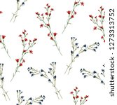 floral blossom seamless pattern.... | Shutterstock .eps vector #1273313752