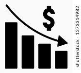 glyph dollars recession pixel... | Shutterstock .eps vector #1273314982