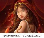 dancer. portrait artwork....   Shutterstock . vector #1273316212