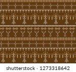 primitive berber signs pattern... | Shutterstock .eps vector #1273318642