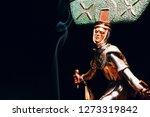 shaman figure smoke  | Shutterstock . vector #1273319842
