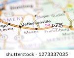 Jeffersonville. Kentucky. USA on a geography map
