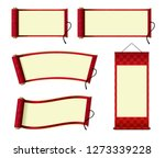 japanese scroll paper   hanging ... | Shutterstock .eps vector #1273339228