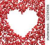Stock photo rose petals greetings with place for text 127334336