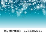 realistic snow background.... | Shutterstock .eps vector #1273352182