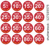 red circle sale price tag for... | Shutterstock . vector #127335575